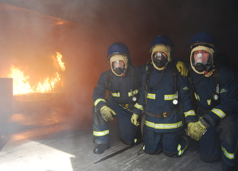 MCA fire safety training at Bristol Maritime Commercial